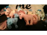 6 original my little ponies from the 80s