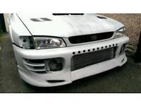 Subaru Impreza JUN Lip+ front Bumper wrx sti gc8
