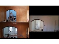 Plastering, painting, decorating, flooring