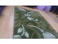 Vv thick v modern stylish dark & light green rug with 3d motif