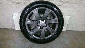 ALLOYS X 4 OF 17 INCH GENUINE AUDI A5/S/LINE/FULLY POWDERCOATED INA STUNNING NEW SPEC OF ANTHRACITE