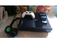 x box one 1tb console,wireless controller.turtle beach headset and twin charging dock station.