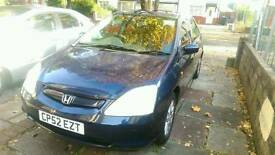 Honda civic 1.6L petrol family car