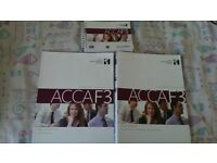 Acca F1-F3 Study text, exam kits & pocket notes £30 london only