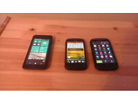 HTC Android Smartphone and Nokia windows Smartphone , Touchscreen, Perfect working condition!