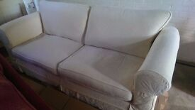 Albany 3 seater sofa in cream (seats 4 easily)