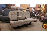 2/3 Seat 360 Swivel Double Bench VW T4 T5 Transit Camper Van motorhome 180 Turn table base Bed
