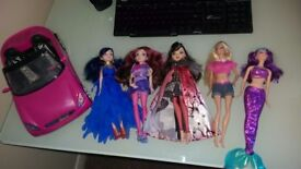 Descendent, Ever After High and Barbie's. Including barbie car.