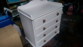 Chest of drawers and Cotbed