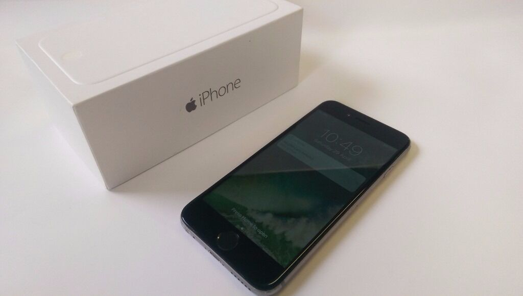 Boxed Apple iPhone 6 16GB UNLOCKED Space Grey Black Good Condition Cheap Smartphone Mobile Phonein Shepherds Bush, LondonGumtree - Apple iPhone 6 16GB Space Grey Black Smartphone Comes in original box UNLOCKED TO ANY NETWORK Used but still good condition phone with some usual signs of wear. Got some marks and scratches on the sides and around the edges especially on the corners....