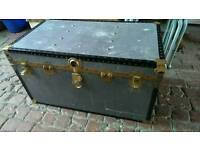 Stunning metal trunk in fantastic condition