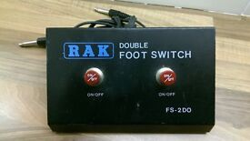RAK Guitar Amp Double Footswitch