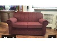 Brand New Wine Red 2 Seater Sofa - Only £29.99