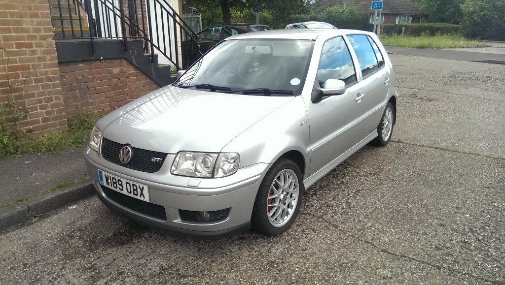 vw polo 1 6 gti 2000 w 16v silver fsh heated leathers 127k bbs wheels in reading. Black Bedroom Furniture Sets. Home Design Ideas