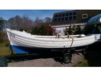 ORKNEY LONGLINER 16' grp open boat WITH INBOARD DIESEL