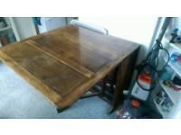 Old wooden gateleg table