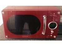 Red daewoo microwave
