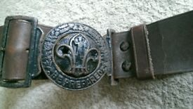 very old scout belt