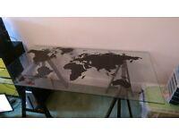 Glass atlas table/desk