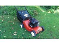 Champion petrol push lawnmower Briggs & Stratton engine, inc grassbox, mower serviced