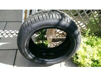 Barely used car tyre