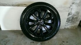ALLOYS X 4 OF 20 INCH GENUINE RANGEROVER VOGUE FULLY POWDERCOATED IN A STUNNING BLACK/SPARKLE NICE