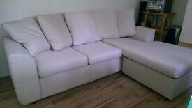 Sainsbury Durham Cream Left or Right Corner Sofa with storage futon Openshaw M11 Collection Only