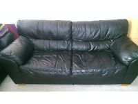 Free 3 seater leather sofa