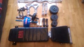 Harrow/West London | Excellent Home Gym –£95 for 30 Pcs: Folding Bench, Bars, Weights and Ab Rollers