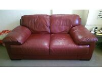 Red sofa, two seater £100 ono
