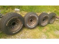 BFGoodrich all terrain t/a tyres 235/85 r16 on defender disco wheels