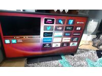 HITACHI 42 INCH SMART FULL HD TV WITH HD FREEVIEW NO SUBSCRIBTION.