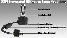 H4 55W HID Conversion Kit H4 Bulbs Bi Xenon Headlights 6000K Hi/Lo Bulbs may seperate.