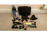 Action Camera with 30piece accessories