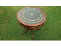 Regency style drum table - reproduction