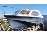 SHETLAND 535 FISHING BOAT NO ENGINE, NO TRAILER
