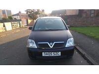 Vauxhall Meriva 1.4 petrol, black, five door MPV for sale!