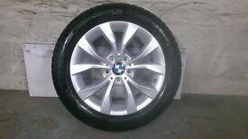 ALLOYS X 4 OF 17 INCH GENUINE BMW X1/FULLY POWDERCOATED IN A STUNNING DUTCH/SILVER VERY NICE WHEELS