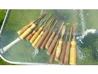 Chisels and wood turning tools