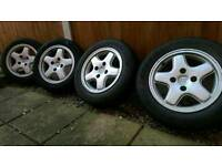 Peugeot 106 xsi alloys and tyres 4x108