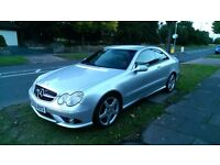 Mercedes Benz CLK 220 CDI AMG Sport, Black Leather, Coupe, Silver