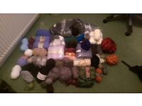 Big bag of knitting wool - various weights/colours etc