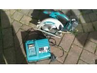 Makita 18v cordless circular saw + charger