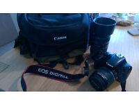 Canon 450D + two lenses + bag