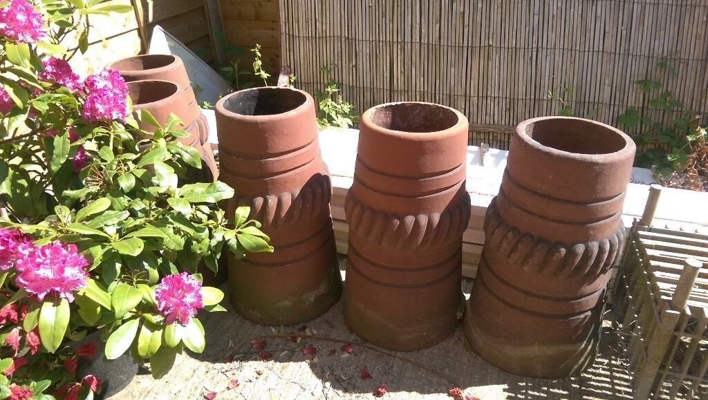 5 x reclaimed Victorian Chimney Pots £30 each - SOLD SUBJECT TO COLLECTION 11/06