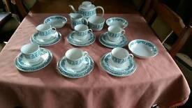 Capri - crown essex ironstone tea set