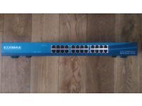 Edimax 24-Port Fast Ethernet Rack-mount Switch 24 x 10/100 RJ-45 Ports