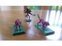 Warhammer 40000 Dark Eldar Beast master and Khymerae/warp beasts