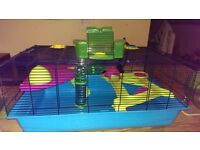 Large Luxury Hamster Cage,large wheel and pet carrier