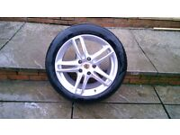 ALLOYS X 4 OF 19 INCH STAGGERED UNMARKED PORSCHE PANAMERA IN EXCELLENT CONDITION WITH PIRELLI TYRES